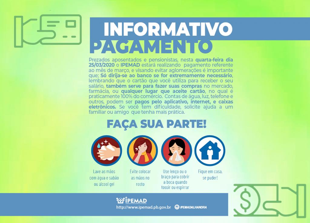 INFORMATIVO DE PAGAMENTO