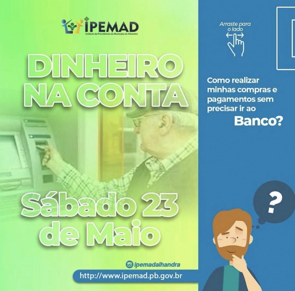 PAGAMENTO DIA 23 DE MAIO