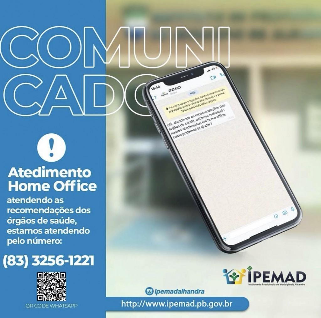 ATENDIMENTOS EM HOME OFICCE