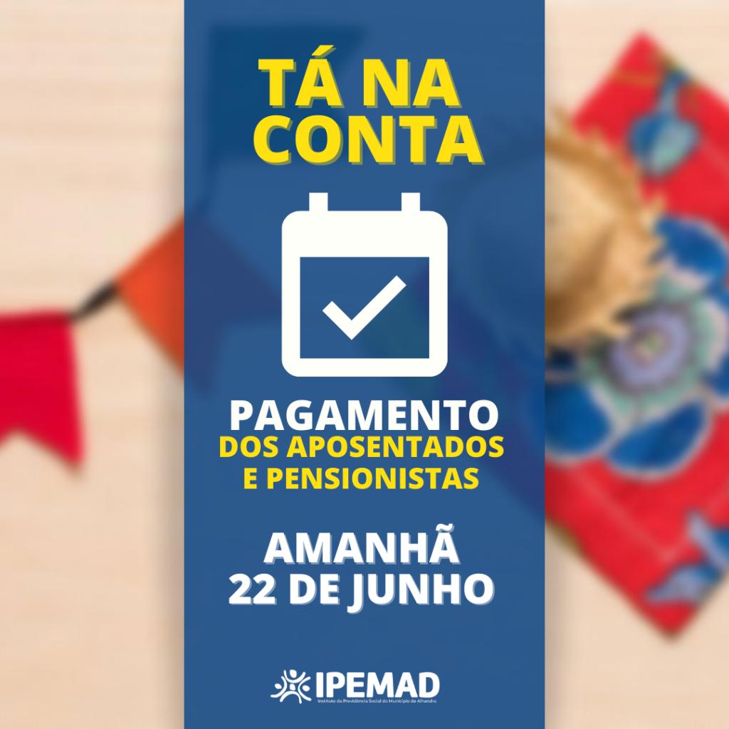 PAGAMENTO ANTECIPADO - JUNHO